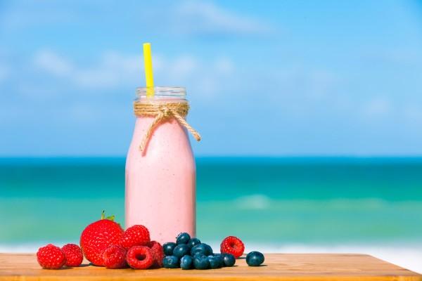 Liquid Strawberry Milkshake