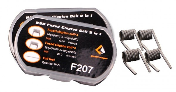 8 x GeekVape Fused Clapton Coil - N90 - 2 in 1 Box