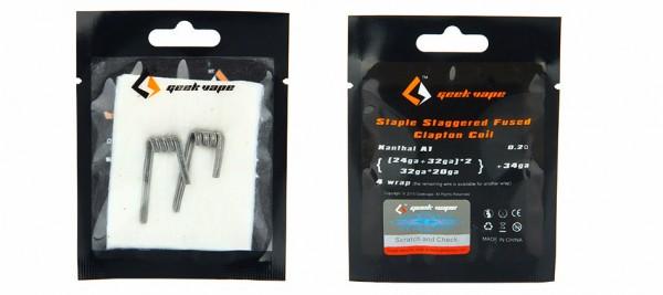 2 x GeekVape Staple Staggered Fused Clapton Fertigcoil