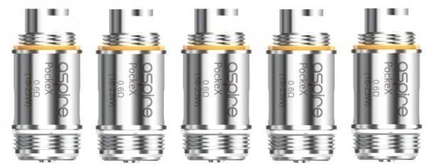 5 Aspire PockeX Coils