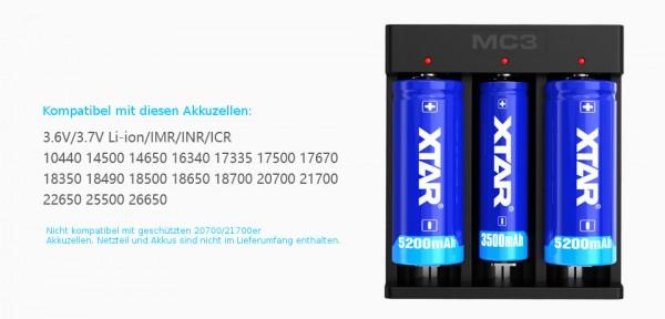 XTAR MC3 Akku-Ladegerät
