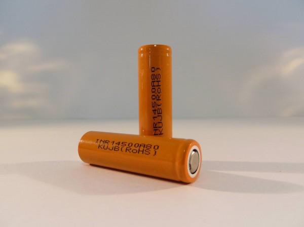 Enerpower 14500 - 800 mAh - INR - Flat Top