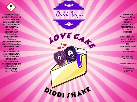 Liquid Love Cake - Diddi Shake von Diddi Vape 120ml