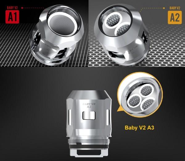 3 Smok TFV8 Baby V2 Coils