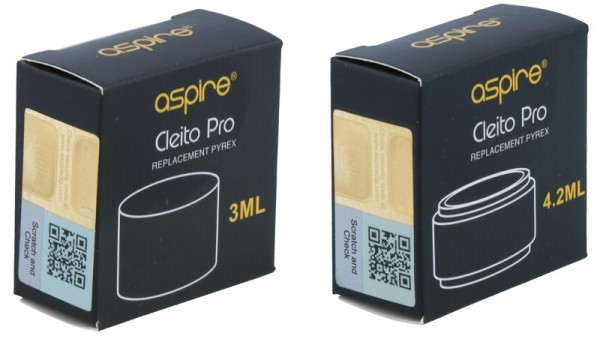 Aspire Cleito Pro Ersatzglas (3ml/4,2ml)