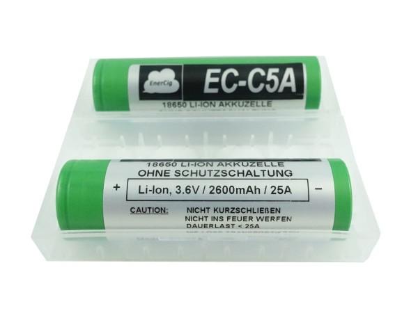 2 x Enercig 18650-EC-C5A 2600 mAh