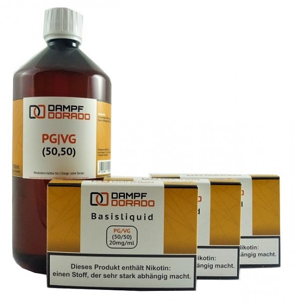 1 Liter Basisliquid 50-50 3mg/6mg