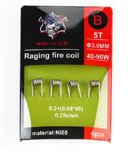 4 x Demon Killer Ni80 Raging Fire Fertigcoil