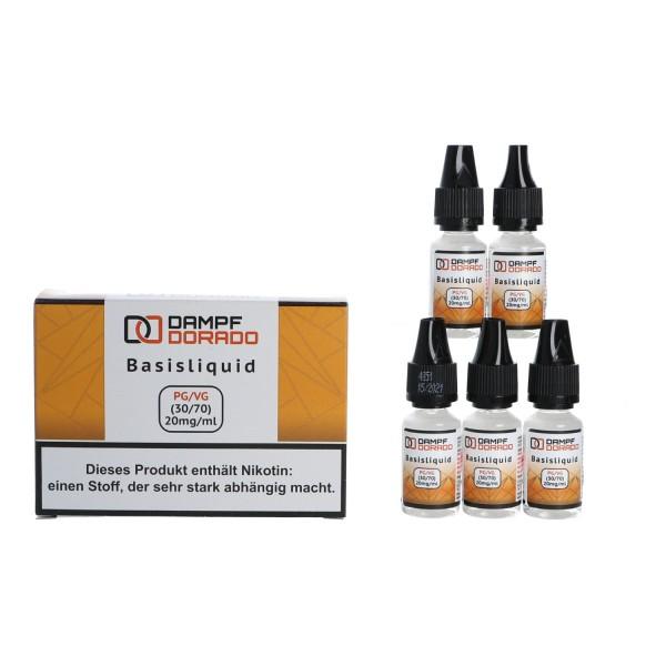 5 x 10 ml Basisliquid Nikotin-Shot 20 mg