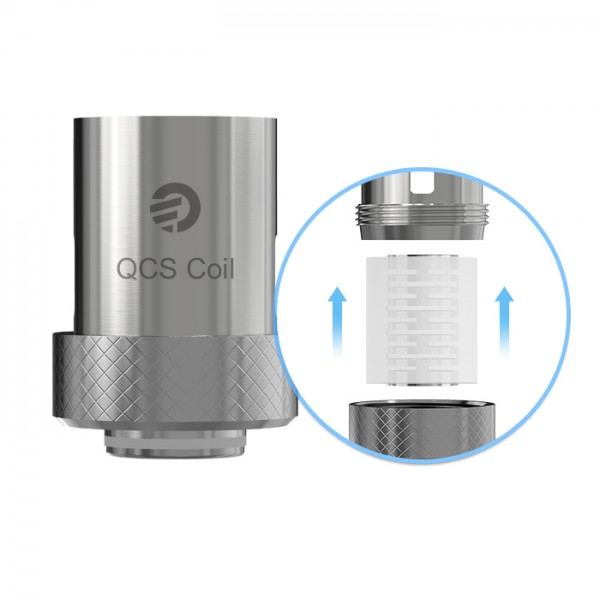 5 QCS-Notch Coil Verdampferköpfe (IC)