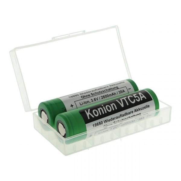 2 x Sony Konion VTC5A - 18650 - 2600 mAh