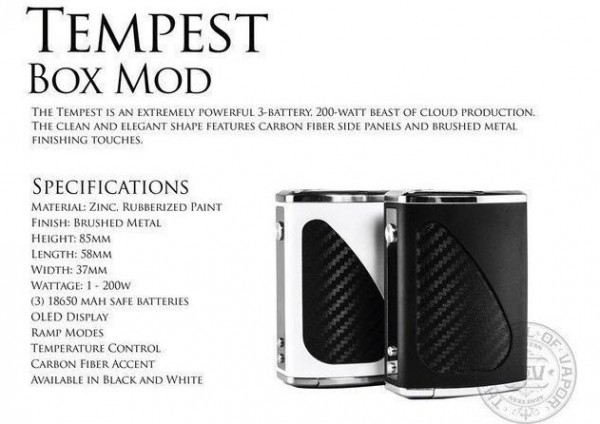CoV Tempest 200W Mod