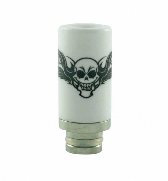 510er Edelstahl + Keramik - Skull DripTip