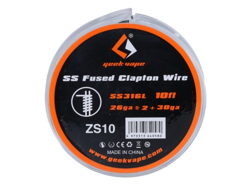 GeekVape SS Fused Clapton Wire - SS316L - 3m