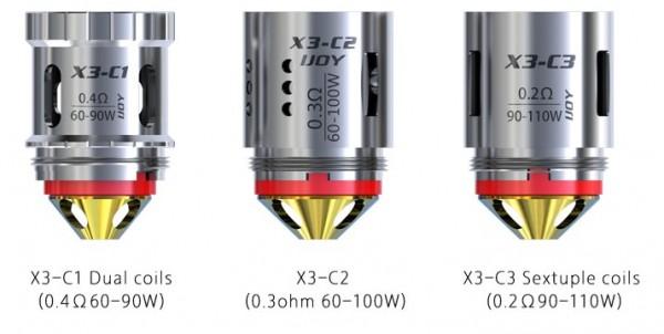 3 iJoy X3 Coils