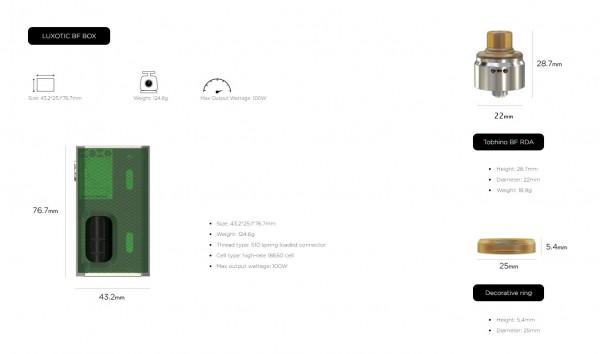 Wismec Luxotic Squonker Kit mit Tobhino BF Verdampfer