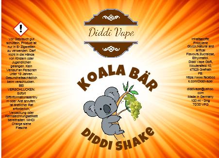 Liquid Koala Bär - Diddi Shake von Diddi Vape 120ml