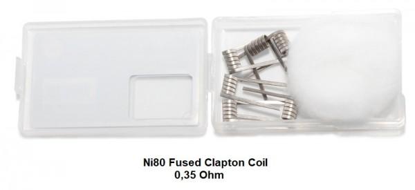 6 x Vapefly Ni80 Fused Clapton Fertigcoil