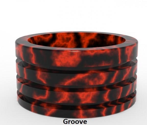 Jigsaw Drip Tip - Shield - Resin-schwarz/rot