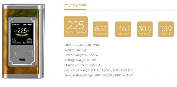 SMOK Majesty 225 Watt Resin